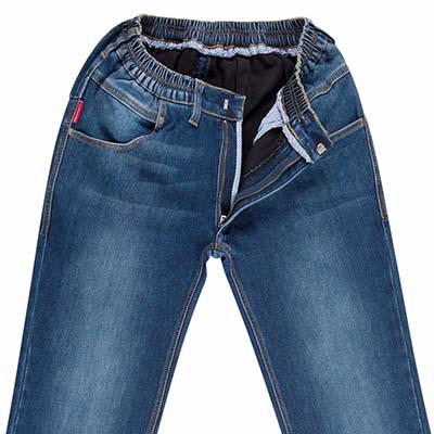 Fodrade jeans med sliten look artikel  317031-12 – Klädvalet 7c06a9355a072