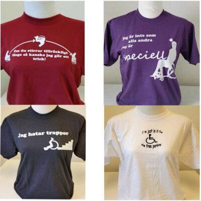 T-shirt med text