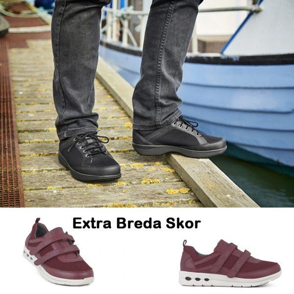 Skor med extra bredd