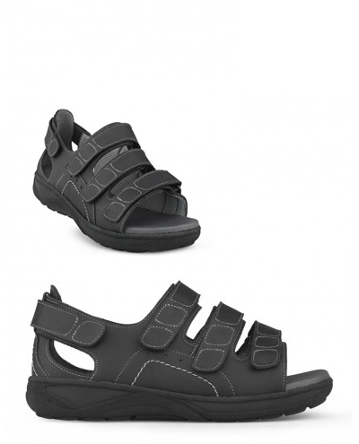 Herr Tofflor och sandaler med extra bredd