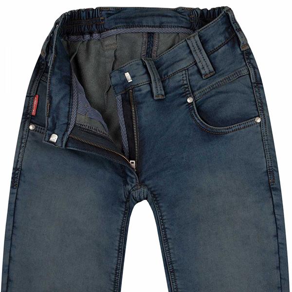 Otroligt mjuka byxor i jeanmodell hög grenlängd bak artikel. 77041