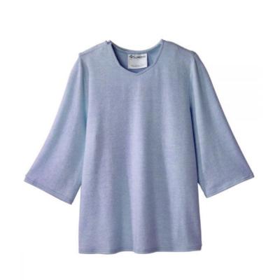 Tröja öppen bak förenklad påklädning 23610 blå